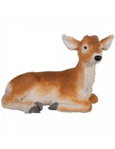 Ciervo con cuernos sentado para la decorar en otoño los escaparates o espacios