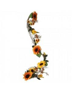 Guirnalda de girasoles Para decorar centros comerciales y escaparates en otoño