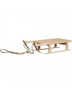Trineo de madera natural Para escaparates de invierno en tiendas y centros comerciales