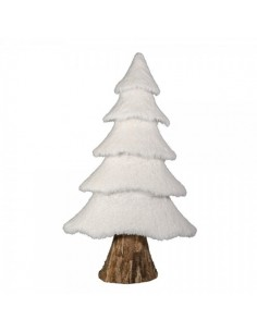 Abeto de nieve xxl de algodón para decorar escaparates y centros comerciales