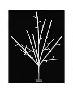 Árbol de ramas secas nevado para decorar escaparates y centros comerciales