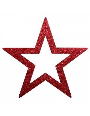 Estrella contorneada con purpurina para la decoración de centros comerciales calles y tiendas