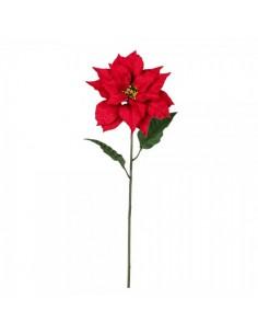 Tallo de poinsettia flor de pascua para la decoración navideña de centros comerciales calles tiendas