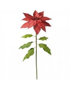 Tallo de poinsettia flor de pascua con purpurina xl para la decoración navideña de centros comerciales calles tiendas