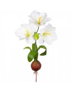 Planta amarilis xl con bulbo y 3 flores para la decoración navideña de centros comerciales calles tiendas