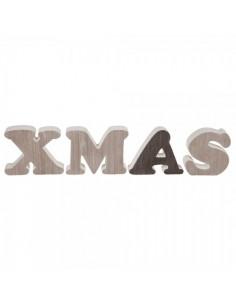 Letras de madera xmas para la decoración navideña de centros comerciales calles tiendas