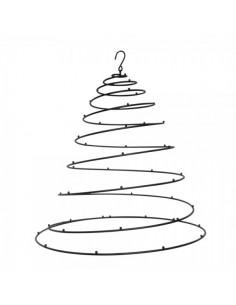 Colgante decorativo en espiral de metal para la decoración navideña de centros comerciales calles tiendas
