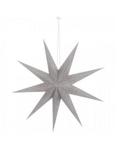 Estrella plegable mate de 9 puntas para la decoración de centros comerciales calles y tiendas