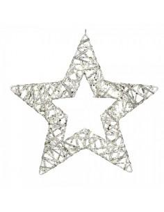 Estrella decorativa de alambre para la decoración de centros comerciales calles y tiendas