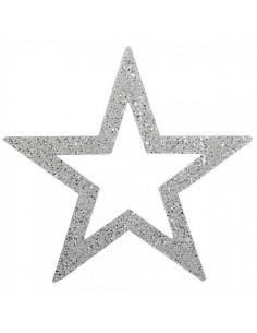 Estrella de navidad contorneada con purpurina para la decoración de centros comerciales calles y tiendas