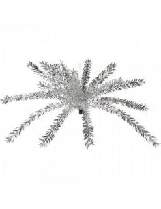 Palmera de flecos de oropel para la decoración navideña de centros comerciales calles tiendas