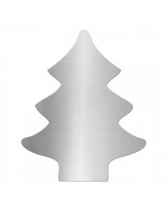 Abeto de navidad 2d en acero inoxidable para la decoración navideña de centros comerciales calles tiendas