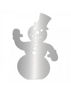 Muñeco de nieve 2d en acero inoxidable para la decoración navideña de centros comerciales calles tiendas