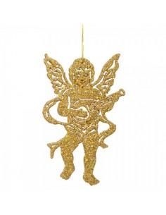 Elementos decorativos ángeles con instrumentos musicales para la decoración navideña de centros comerciales calles tiendas