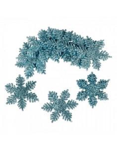 Elementos decorativos de estrella de hielo-nieve para la decoración navideña de centros comerciales calles tiendas