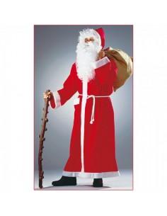 Traje de papá noel tipo túnica largo para la decoración navideña de centros comerciales calles tiendas