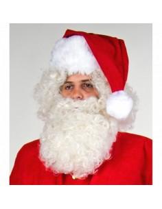 Barba de papá noel larga para la decoración navideña de centros comerciales calles tiendas