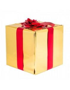 Paquete con envoltorio de regalo y lazo para la decoración de árboles de navidad