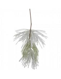 Rama de pino con escarcha para la decoración de centros comerciales calles y tiendas