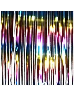 Cortina de flecos brillantes 2x50cm para la decoración navideña de centros comerciales calles tiendas