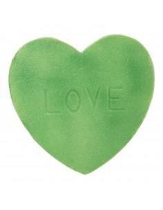 Imitación de golosina corazón texto LOVE para heladerías cafeterías y la decoración de escaparates de tiendas