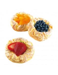 Imitación de hojaldres con frutas para heladerías cafeterías y la decoración de escaparates de tiendas