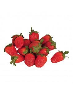 Imitación de fresas naturales para fruterías y la decoración de escaparates de tiendas o comercios