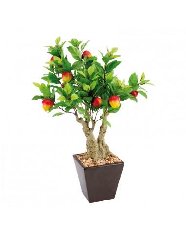Imitación de manzano árbol con tiesto para fruterías y la decoración de escaparates de tiendas o comercios