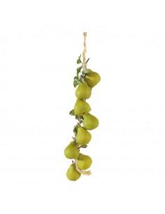 Imitación de guirnalda de peras para fruterías y la decoración de escaparates de tiendas o comercios