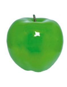 Imitación de manzana entera con rabillo para fruterías y la decoración de escaparates de tiendas o comercios