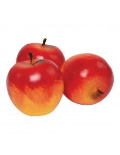 Imitación de manzanas fuji para fruterías y la decoración de escaparates de tiendas o comercios