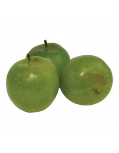 Imitación de manzanas golden para fruterías y la decoración de escaparates de tiendas o comercios