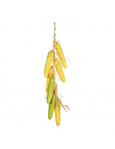 Imitación de guirnalda de mazorcas de maíz para fruterías y la decoración de escaparates de tiendas o comercios