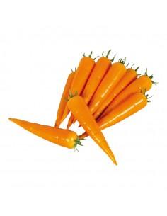 Imitación de zanahorias para fruterías y la decoración de escaparates de tiendas o comercios