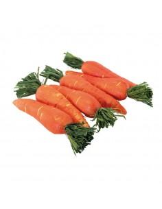 Imitación de zanahorias con hojas cortadas para fruterías y la decoración de escaparates de tiendas o comercios
