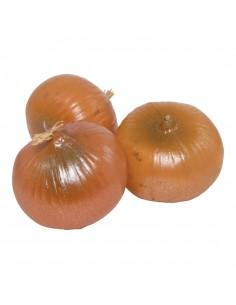 Imitación de cebollas para fruterías y la decoración de escaparates de tiendas o comercios