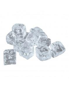 Imitación de cubitos de hielo cuadrados medianos para pescaderías y la decoración de escaparates de tiendas o comercios