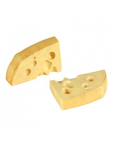 Imitación de porciones de queso cortadas para queserías y charcuterías y escaparates de tiendas