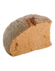 Imitación de pan de pueblo cortado un cuarto para panaderías pastelerías y escaparates de tiendas