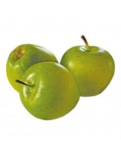 Imitación de manzanas entera con rabillo para fruterías y la decoración de escaparates de tiendas o comercios