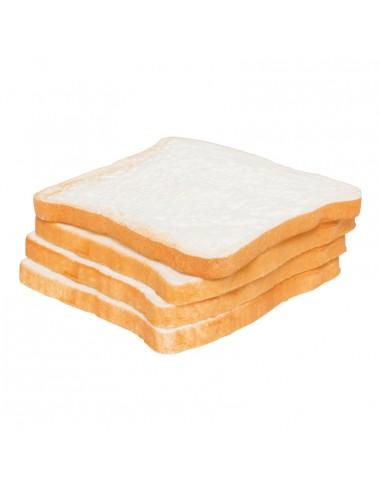Imitación de rebanadas de pan de molde para panaderías pastelerías y escaparates de tiendas