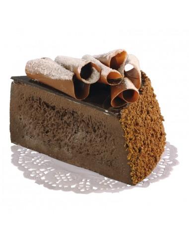Imitación de trozo de pastel de chocolate para panaderías pastelerías y escaparates de tiendas