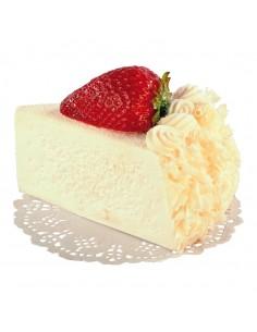 Imitación de trozo de pastel de crema con fruta para panaderías pastelerías y escaparates de tiendas