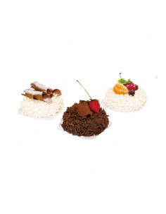 Imitación de tartetas de chocolates y frutas para panaderías pastelerías y escaparates de tiendas