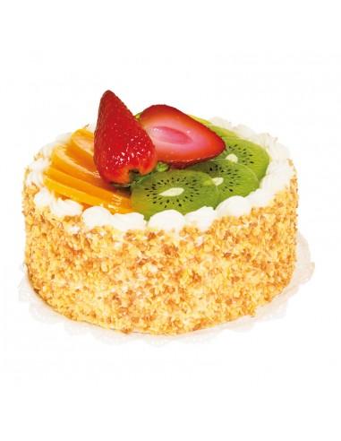 Imitación de tarta de crema con fresas kiwi y naranja para panaderías pastelerías y escaparates de tiendas