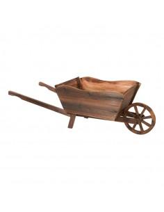 Carretilla vintage de madera para decoración para licorerías bodegas catas y escaparates de tiendas