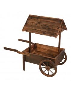 Carro de venta ambulante vintage de madera para la decoración de espacios y escaparates de tiendas