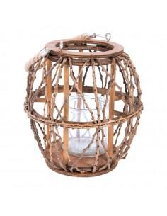 Farolillo de ramas para la decoración otoñal de escaparates y espacios