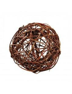 Bola de mimbre para la decoración otoñal de escaparates y espacios