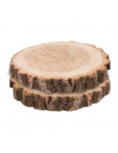 Discos de madera para la decoración otoñal de escaparates y espacios